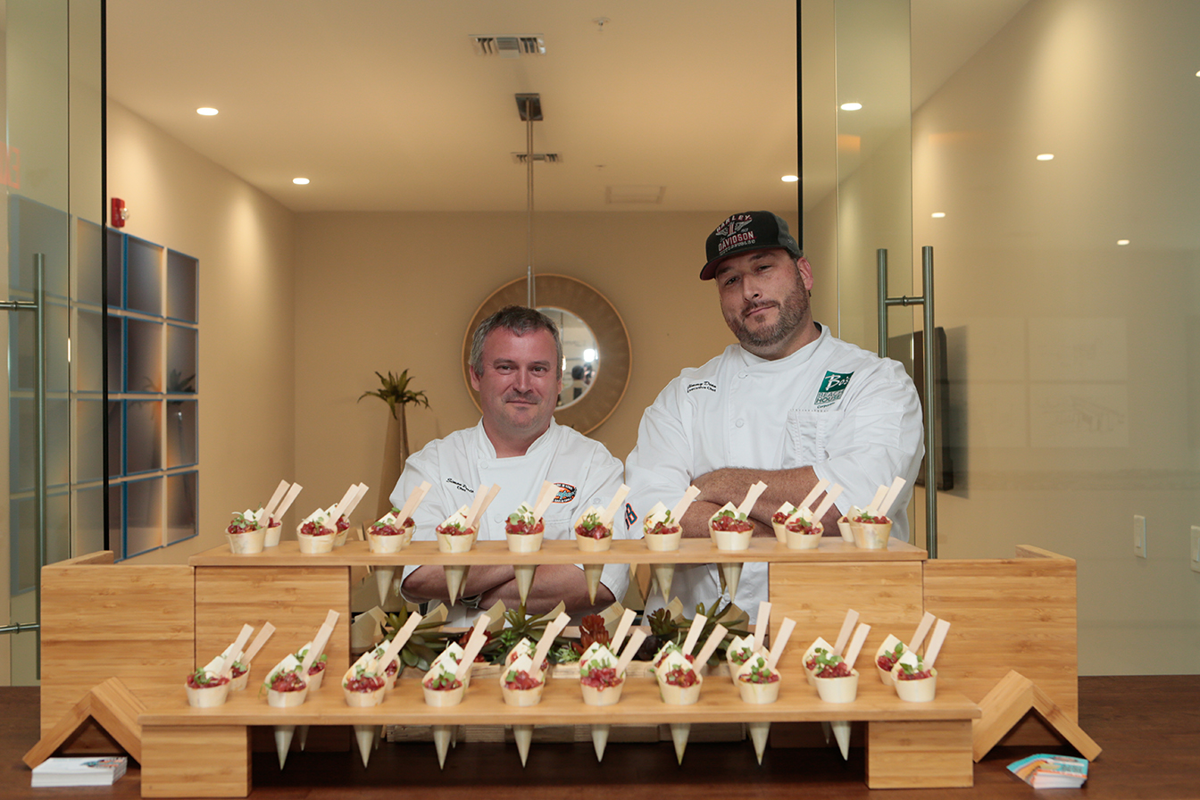 Chef Simon Parte and Executive Chef Jimmy Dean of Bokamper's Sports Bar & Grill