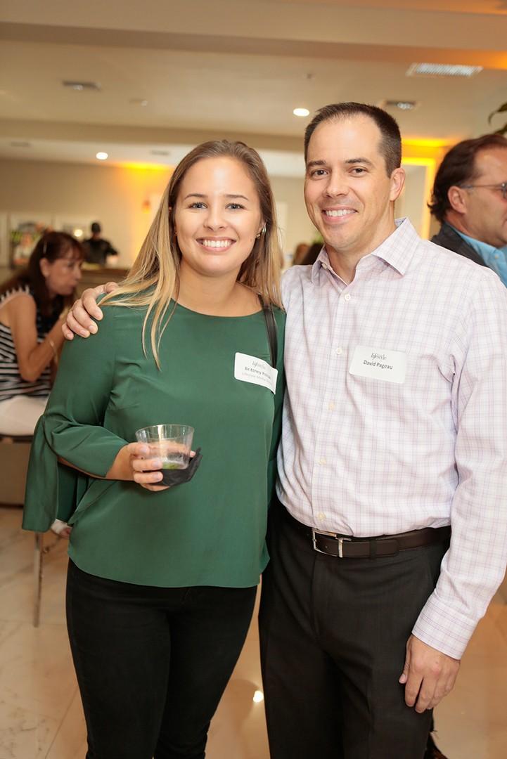 Brittney Poliak and David Pageau