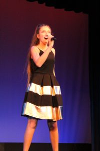 Jessica Russo performing at Creek Idol