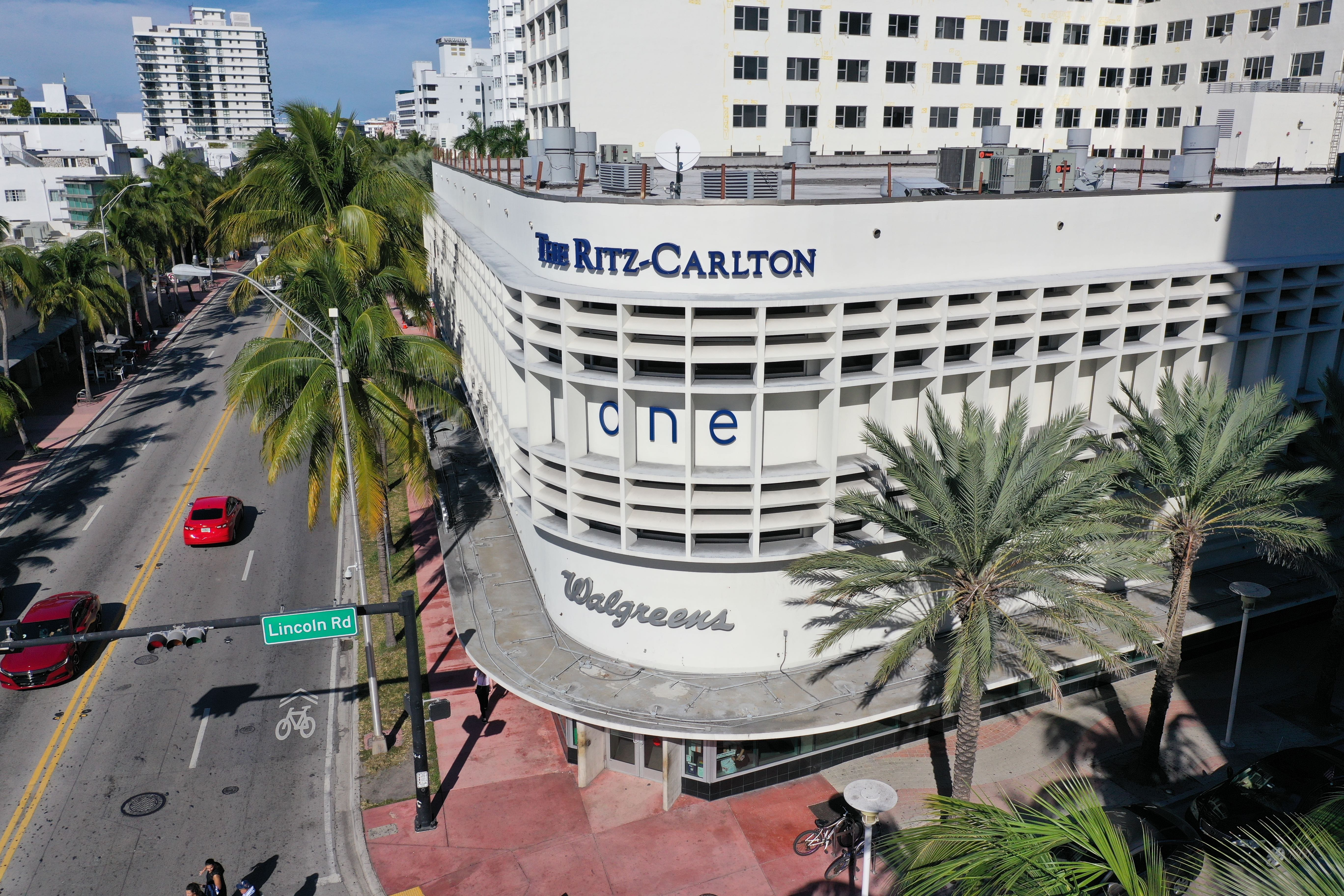 The Walgreens store is underneath the Ritz Carlton at Collins Avenue and Lincoln Road