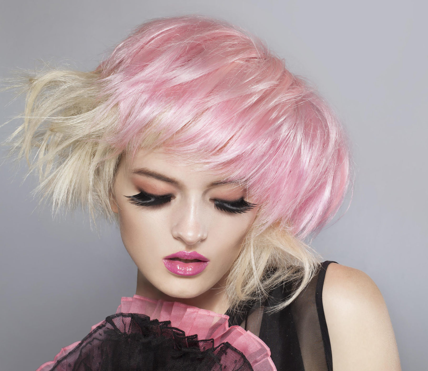 Pink hairstyle from Hiya David Kafer Cutting Studio