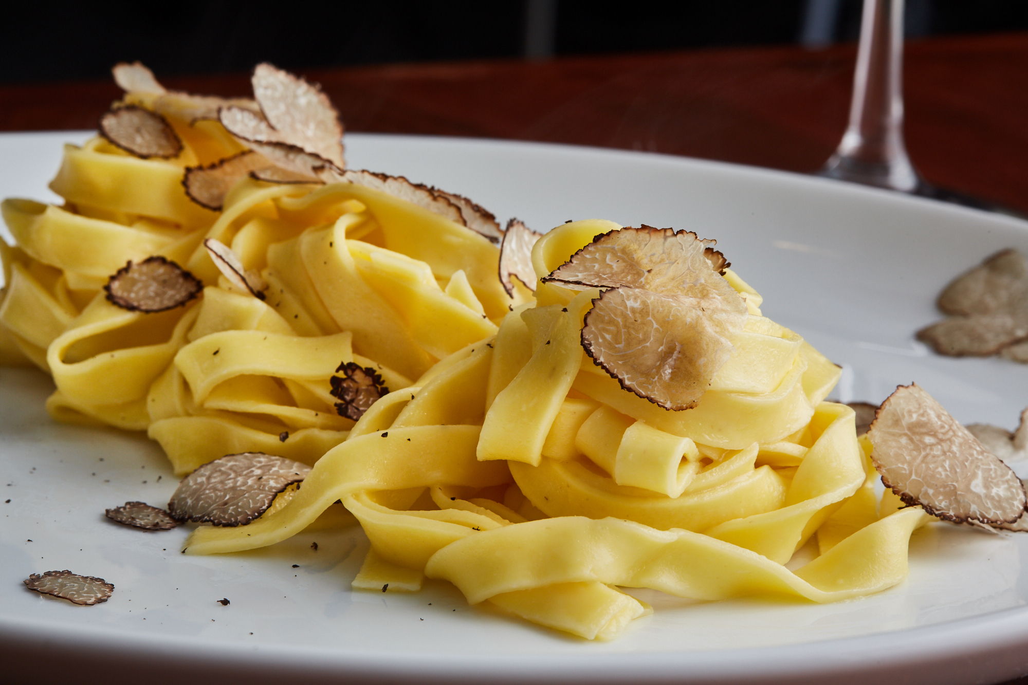 Saporita (pasta with porcini mushrooms and black truffles)