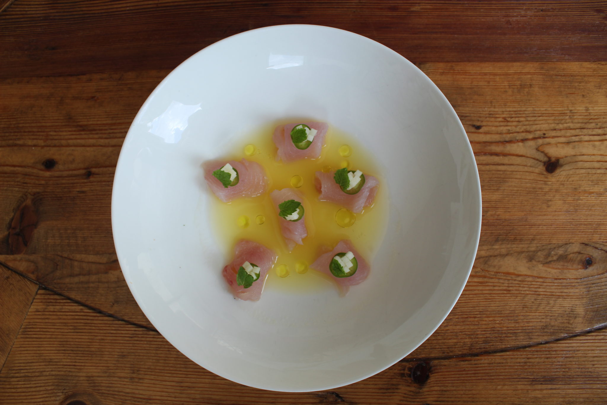 Snapper Crudo from One Door East