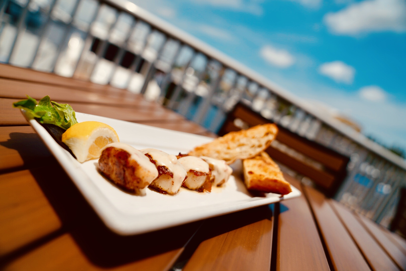 Bacon-wrapped Sea Scallops from Rendezvous Waterfront Bar and Grill