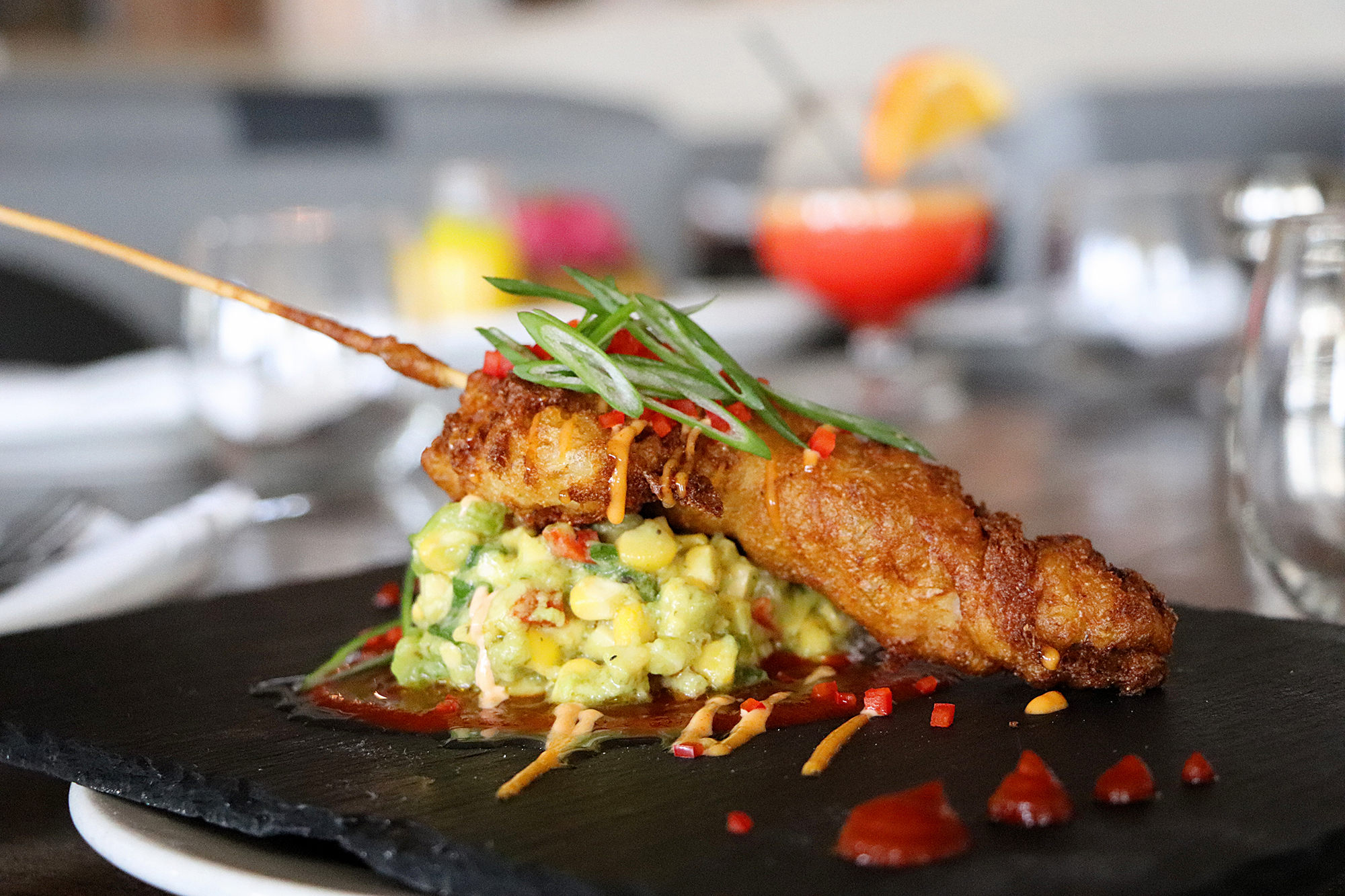 Lobster Corn Dog from Wild Thyme Oceanside Eatery