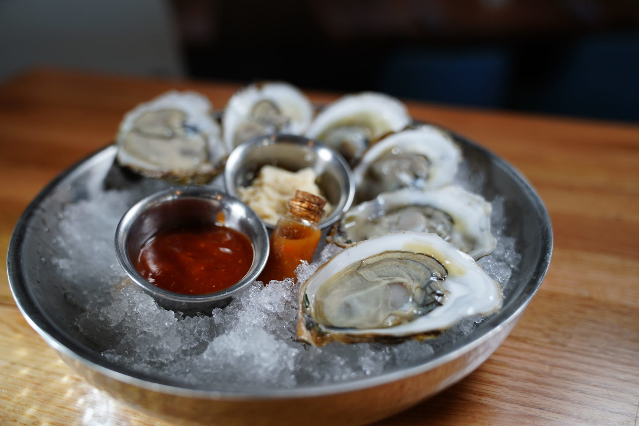 Blue Point oysters from And Fish