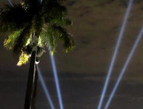 Broken Sound Club searchlights