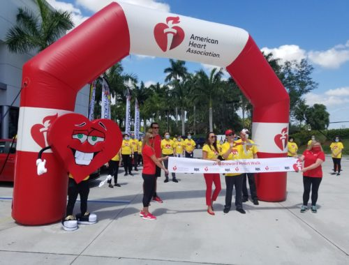 Broward Heart Walk kick-off at Rick Case Kia