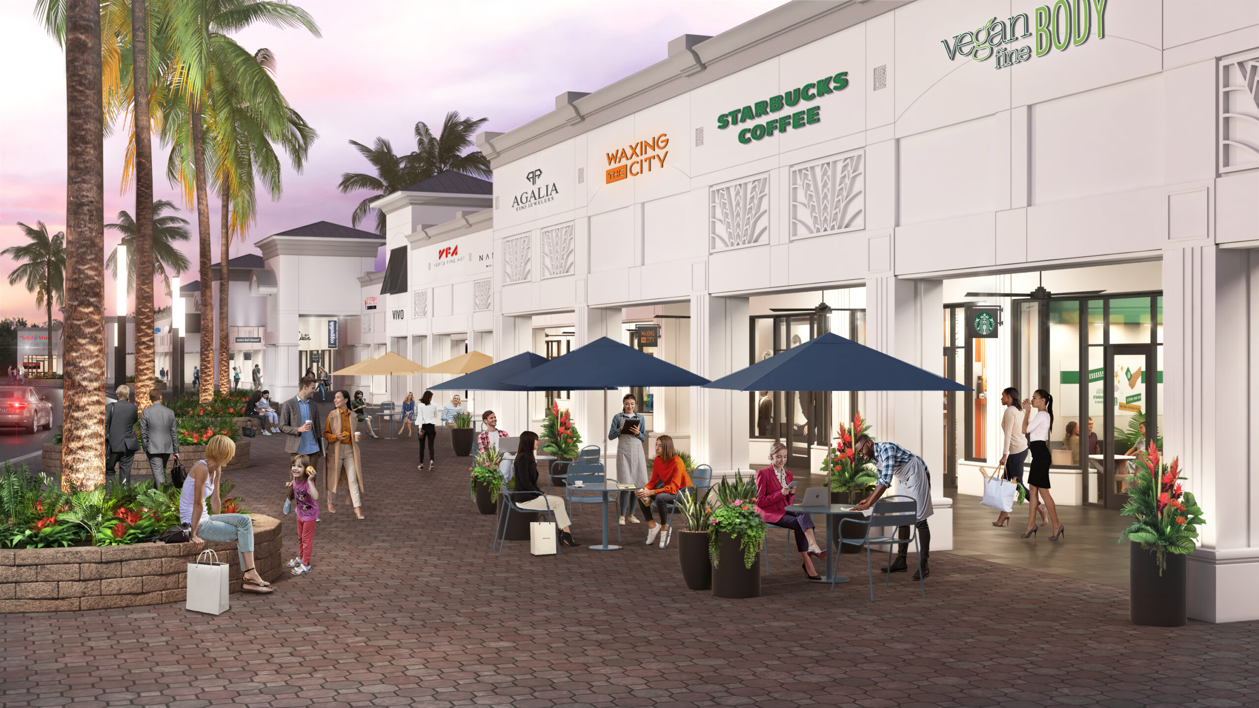 Boca Center_Retail Rendering